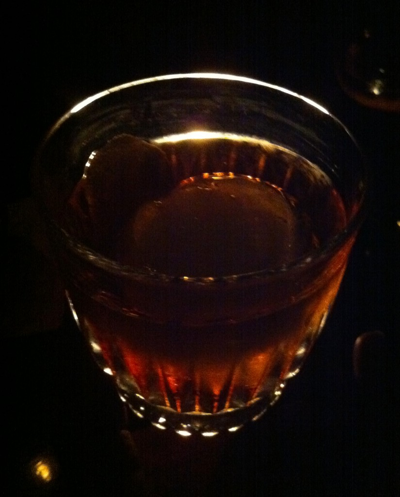 An old fashioned by candlelight